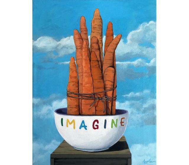 10 Karat - whimsical surreal still life fine art painting