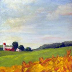 A Bit of Country farm landscape oil painting