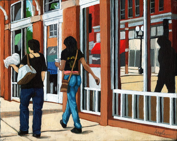 Afternoon Reflections - Contemporary City Scene