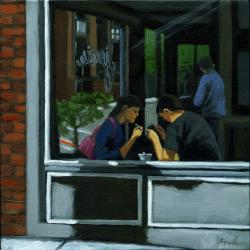 Figurative painting - &quot;Rendezvous&quot;