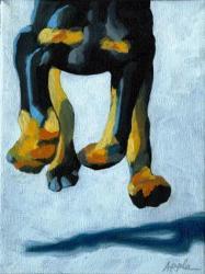All Fours - Doberman dog