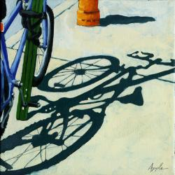 All Tied Up - bicycle shadow series