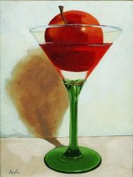 The Appletini - still life glass &amp; fruit