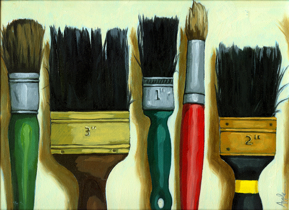 Tools of the Trade - artist paint brushes