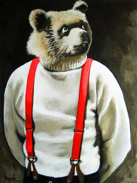 Bear With Me - animal portrait anthropomorphic realism fantasy