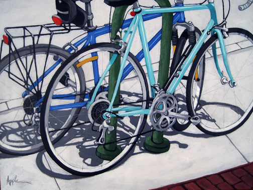 BIKE DAY - Bicycle art painting commission
