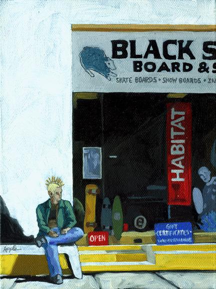 Figurative painting - Black Sheep