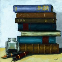 Still Life - Books and Pens