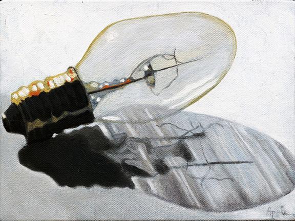 Light Bulb Realism Still Life