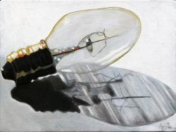 Light Bulb Realism Still Life