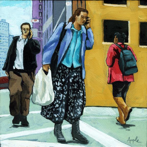 Figurative City Scene - Rush Hour