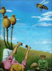 Flight of the Bumblebee - Surreal Fantasy painting
