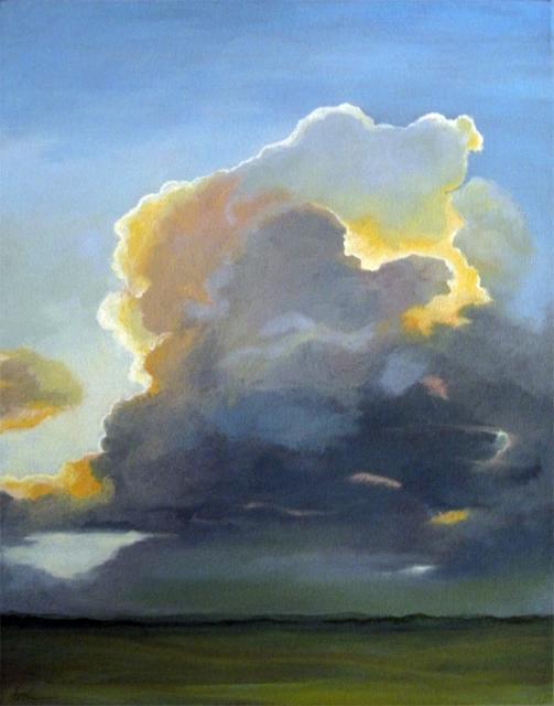 Evening Clouds - landscape sky oil painting