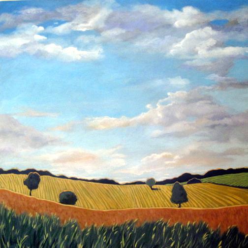 CORN and WHEAT - contemporary landscape