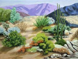 Day in the Desert - Palm SPrings California Landscape painting