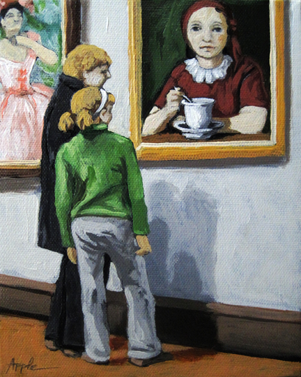 A Day Together art within art art museum oil painting