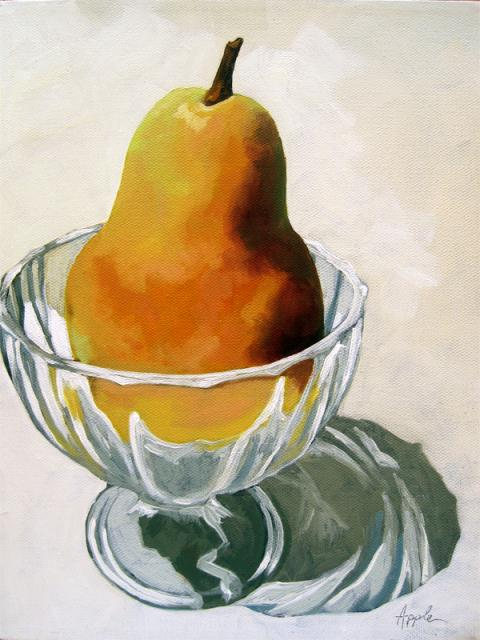 Pear Dessert - still life realism oil painting