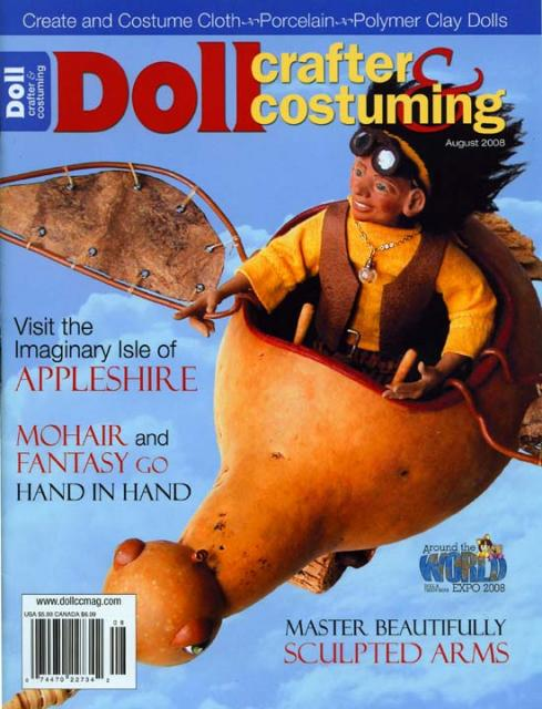 Doll Crafter and Costuming Magazine Cover & article