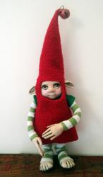 Santa&#039;s Elf - Xmas Helper ooak sculpture art doll