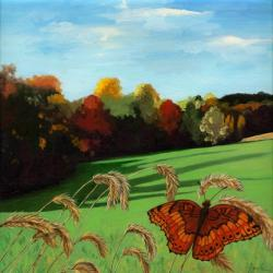 Fall Landscape & Butterfly
