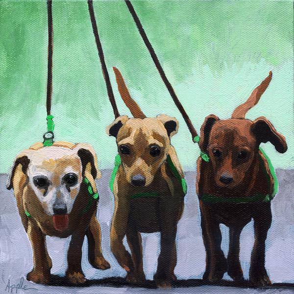 Family of Chihuahuas - animal art