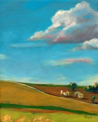 Farm Countryside Landscape oil painting