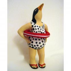 Bertha's Summer Vacation - ooak fantasy art doll sculpture