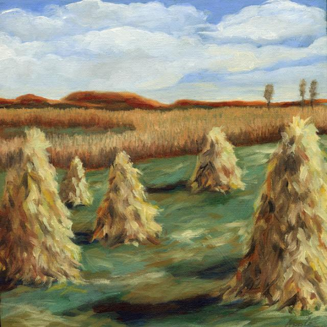 Haystacks - Ohio Country Landscape