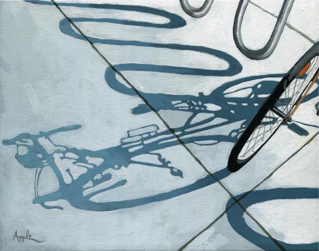 In the Loop bicycle shadow urban scene
