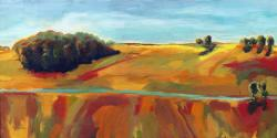Large Wide View of Countryside landscape oil painting