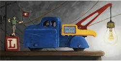 Light Load - vintage toys oil painting