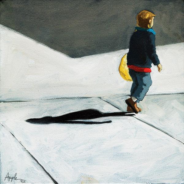 Little Helper - figurative oil painting