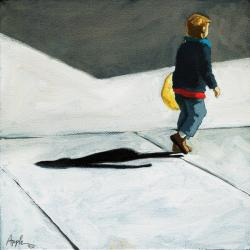 Little Helper - figurative oil painting