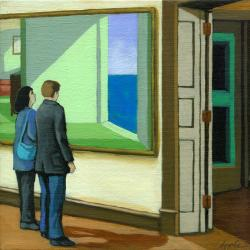 Looking to the Future - art museum figurative painting