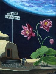 Lotus Blossom Lane - surreal fantasy landscape