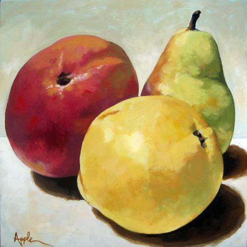 Mango and Pears still life food art realism