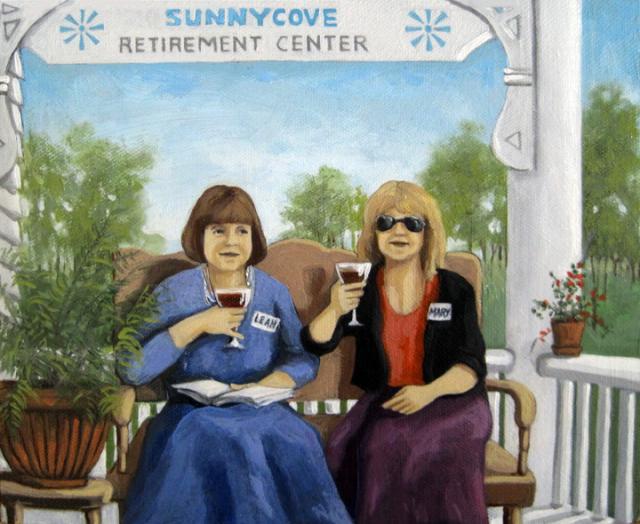 SunnyCove - women sitting on porch portrait commission