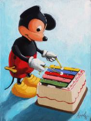Mickey Mouse Music - vintage still life