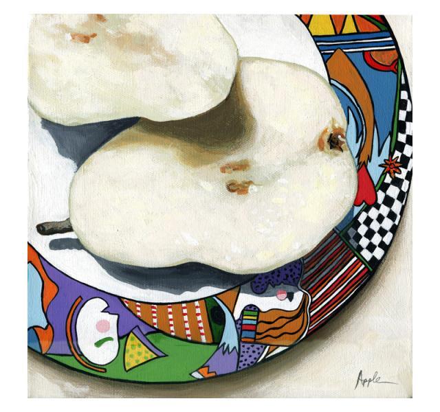 Morning Pears food art still life painting