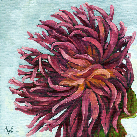 Chrysanthemum floral still life oil painting