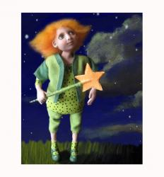 Wish Upon A Star - ooak art doll sculpture