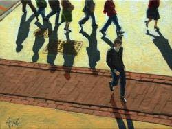 Crossing theTracks- People Off to Work
