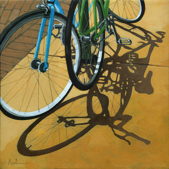 Contemporary City Scene - Bicycles