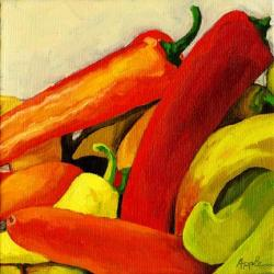 Hot Peppers - still life