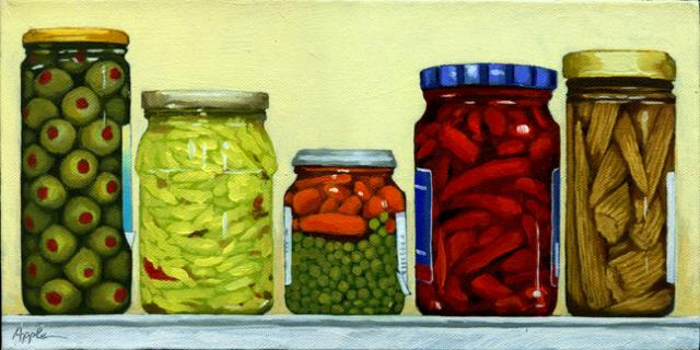 Pickled - jars of food still life