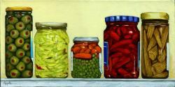 Pickled - jars of food still life