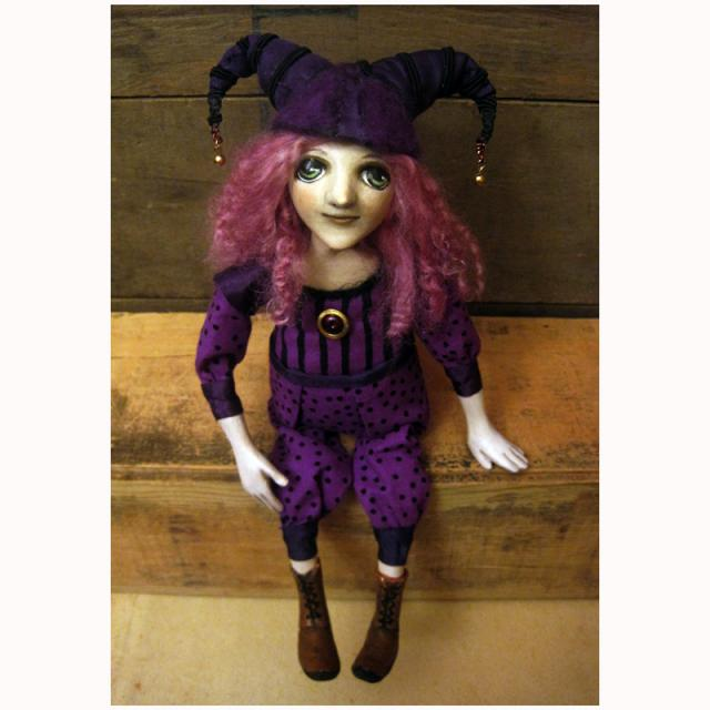 Passion for Purple OOAK art doll sculpture
