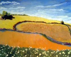 Queen Ann's Lace - Contemporary Landscape