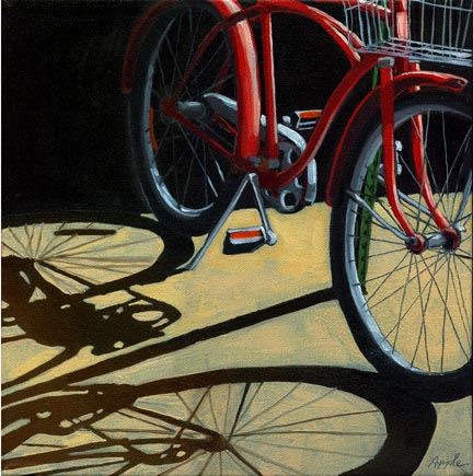 The Old Classic Red - bicycle series