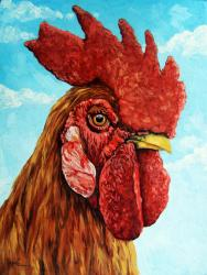 Rooster portrait animal art